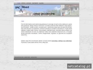Zrzut ekranu strony www.geo-libed.pl
