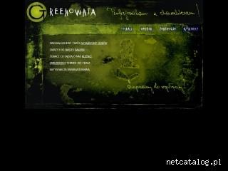 Zrzut ekranu strony www.greenownia.pl