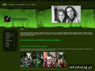 Zrzut ekranu strony www.teatrkubika.pl