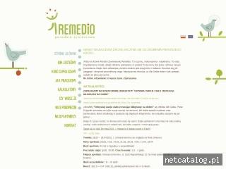 Zrzut ekranu strony www.poradniaremedio.pl