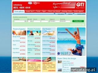 Zrzut ekranu strony www.gti-travel.pl