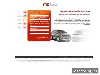 Zrzut ekranu strony www.mgrental.pl