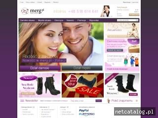 Zrzut ekranu strony www.merg.pl