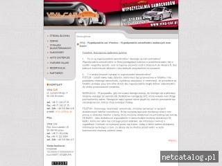 Zrzut ekranu strony www.viva-car.pl