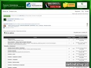 Zrzut ekranu strony www.forum-szkolenia.pl
