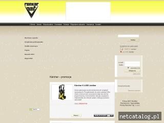 Zrzut ekranu strony www.aatrenkar-karcher.pl