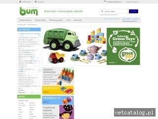 Zrzut ekranu strony www.bumzabawki.pl