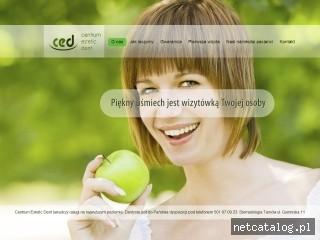 Zrzut ekranu strony www.ced-dentysta.pl