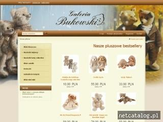 Zrzut ekranu strony www.galeriabukowski.pl