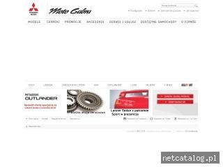 Zrzut ekranu strony www.mitsubishigabra.pl