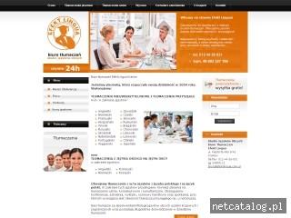 Zrzut ekranu strony www.efektlingua.com.pl