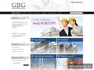 Zrzut ekranu strony www.rusztowania-gbg.pl