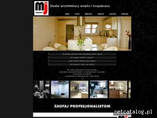 Zrzut ekranu strony www.mjproject.pl