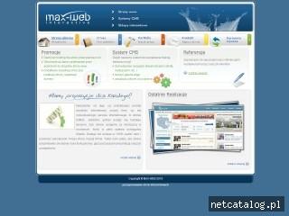 Zrzut ekranu strony www.max-web.pl