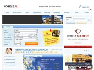 Zrzut ekranu strony www.hotele.pl