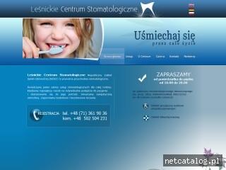 Zrzut ekranu strony www.lcs.wroclaw.pl