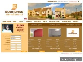 Zrzut ekranu strony www.bochenko.nieruchomosci.pl