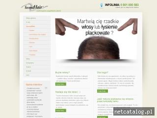 Zrzut ekranu strony www.secondhairs.pl