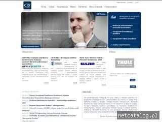 Zrzut ekranu strony www.csf.pl