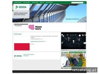 Zrzut ekranu strony www.dekra-industrial.pl