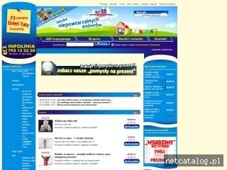 Zrzut ekranu strony www.prezencik.sklep.pl
