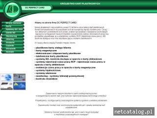 Zrzut ekranu strony www.dcperfectcard.com.pl