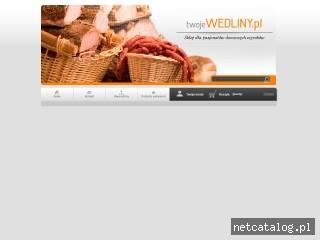 Zrzut ekranu strony www.twojewedliny.pl