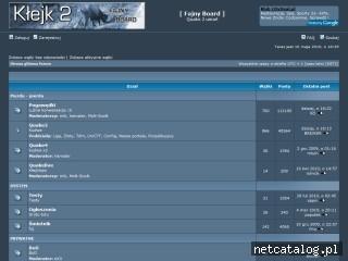 Zrzut ekranu strony www.fajnyboard.planetquake.pl