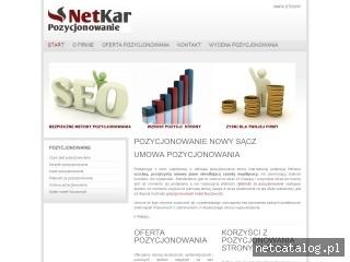 Zrzut ekranu strony www.net-kar.pl
