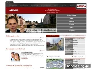 Zrzut ekranu strony www.arenda.com.pl