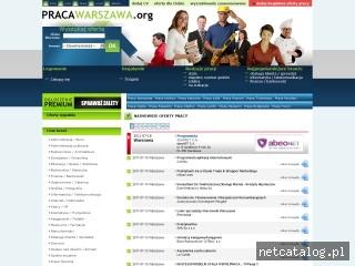 Zrzut ekranu strony www.pracawarszawa.org