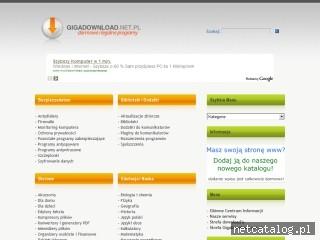 Zrzut ekranu strony www.gigadownload.net.pl