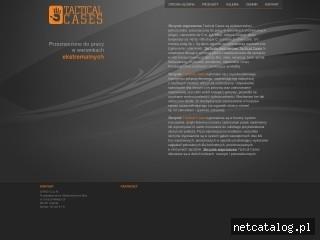 Zrzut ekranu strony www.tacticalcases.pl