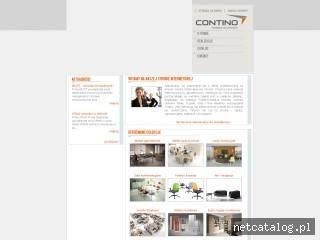 Zrzut ekranu strony www.contino.com.pl