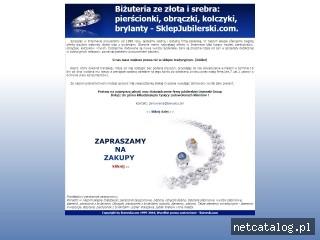 Zrzut ekranu strony www.sklepjubilerski.com