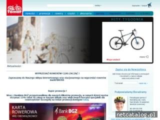 Zrzut ekranu strony www.rowerowy.biz