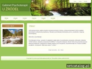 Zrzut ekranu strony psychoterapiauzrodel.pl