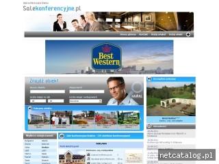 Zrzut ekranu strony www.krakow.salekonferencyjne.pl