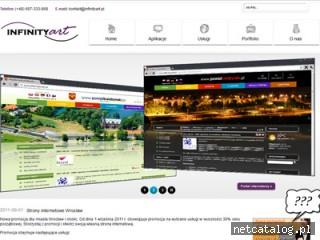 Zrzut ekranu strony infinityart.pl