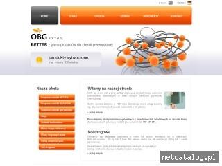 Zrzut ekranu strony www.obgbetter.pl