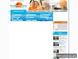 Zrzut ekranu strony www.mieszkaniadowynajeciawarszawa.noweoferty.com