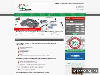 Zrzut ekranu strony www.cesja.net