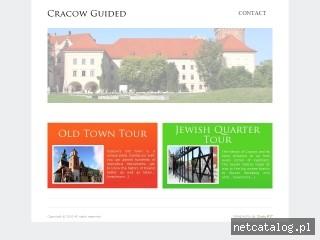 Zrzut ekranu strony www.cracowguided.com