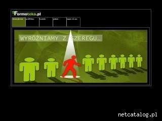 Zrzut ekranu strony www.formoteka.pl