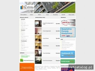 Zrzut ekranu strony www.nieruchomosci-az.poznan.pl