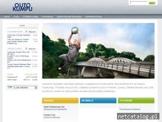 Zrzut ekranu strony www.outokumpu.pl