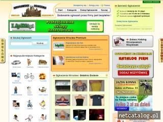 Zrzut ekranu strony www.wroclaw-ogloszenia.pl